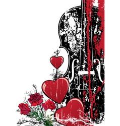 gitarheart vector image
