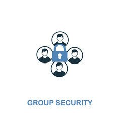 group security icon in two colors premium design vector image