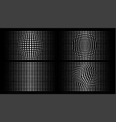 Halftone distorted gradient dots backgrounds vector
