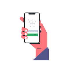 Hand holding a telephone menu for entering vector