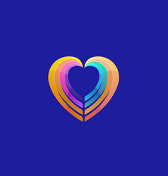 heart colorful gradient logotype charity vector image