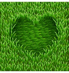 Heart on green grass vector