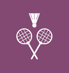 Icon kids badminton vector