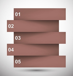 Infographics brown paper design vector