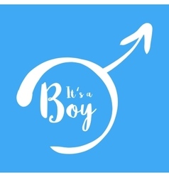 Its a boy - baby shower invitation template vector