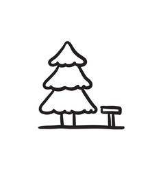 Landscape sketch icon vector