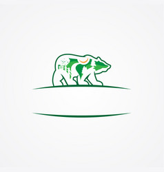 landscaping studio icon forming a bear vector image