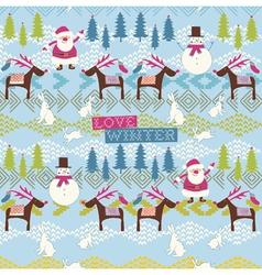 Love winter vector