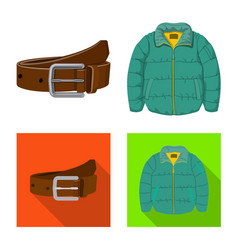Man and clothing sign vector
