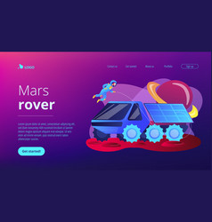mars rover concept landing page vector image