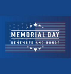 Memorial day banner collection stock vector