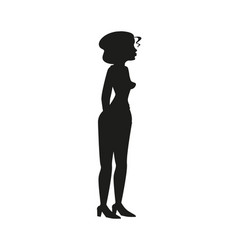 modern fashionable woman cartoon vector image