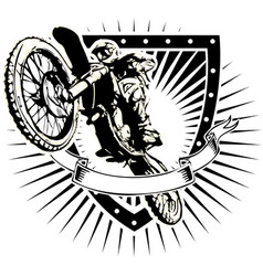 motorcross shield vector image