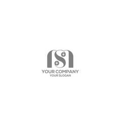 Ms star logo design vector