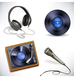 Music equipment set vector image