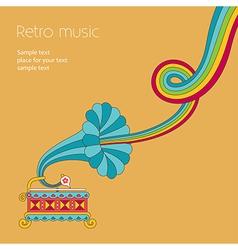 music yellow vector image