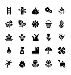Nature and ecology solid icons 3 vector
