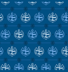 Nautical background anchor vector