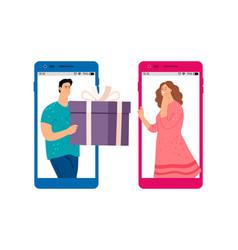 online gift service vector image
