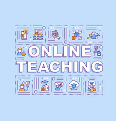online teaching word concepts banner vector image