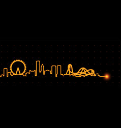 Orlando light streak skyline vector