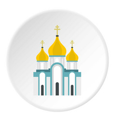 orthodox church icon circle vector image