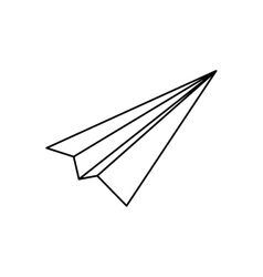 Paper plane origami vector