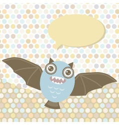 Polka dot background pattern Funny cute bat vector