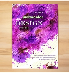 Poster Template with Watercolor Splash vector