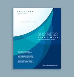 professional blue business flyer brochure design vector image