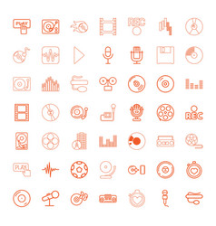 record icons vector image