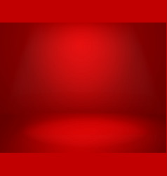 red studio background empty vivid red color vector image