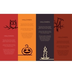 retro graphical templates with Halloween element vector image