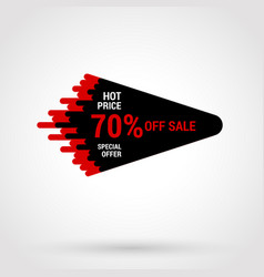 Sale sticker with hand drawn elements in black and vector
