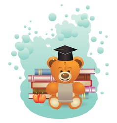 School Teddy Bear2 vector image