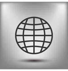 The globe icon Globe symbol Flat vector image