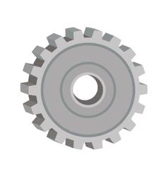 Tridimensional silhouette gear wheel icon vector