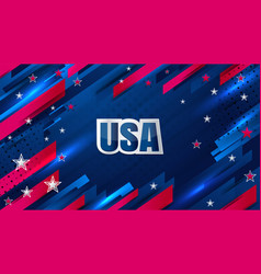 usa star background vector image