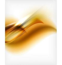 Wave designed business poster in orange color vector