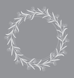 frame branches with leaves vector image vector image