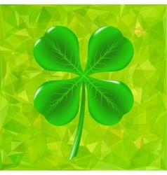 Green Leaf Clover vector image