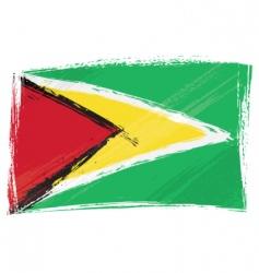 grunge Guyana flag vector image vector image