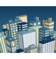 night city landscape isometric view vector image vector image