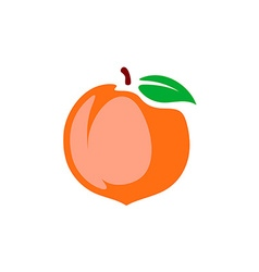 Peach Color cartoon style isolated on a whi vector image vector image