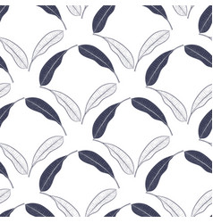 tropical seamless pattern with mango leaves vector image vector image