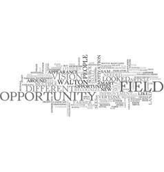 a field of multiple opportunity text word cloud vector image