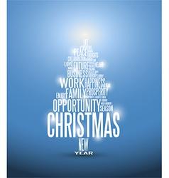 Abstract christmas card with season words vector image