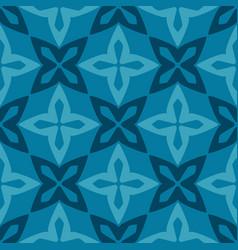 blue moroccan ornamental ceramic tile vector image