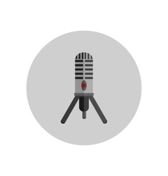 Microphone Design Flat Isolated vector image