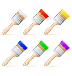 paint brushes vector image